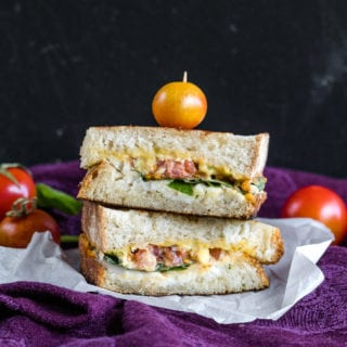 Vegan Caprese Grilled Cheese