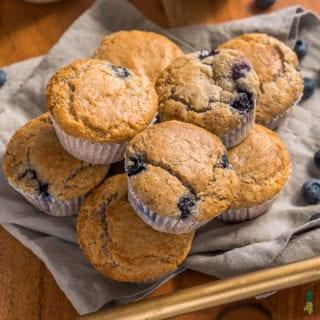 Blueberry Bliss Muffins {easy & vegan} + Fuss-Free Vegan Cookbook Giveaway!