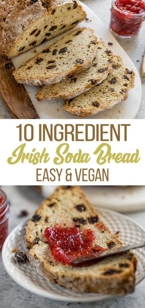 An easy to make and fool proof recipe! This vegan Irish soda bread is ready in under an hour and requires just 10 simple ingredients, count me in! #vegan #irish #irishsodabread #veganirish #bakedgoods #bread #snack #breakfast #10ingredient #1hour #mealprep #veganrecipes #easyvegan