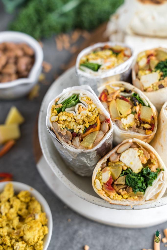 Freezer Friendly Breakfast Burritos Vegan