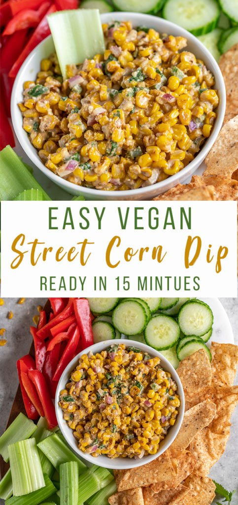 An easy to make street corn dip perfect for parties and summer cookouts!