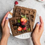 Freezer-friendly buckwheat pancakes and waffles make for a deliciously healthy breakfast on the go. They're perfect to enjoy before work or school to get your day started right! #BUCKWHEAT #backtoschool #vegan #kids #recieideas #breakfast #frozen #lunch #dinner #freezersafe