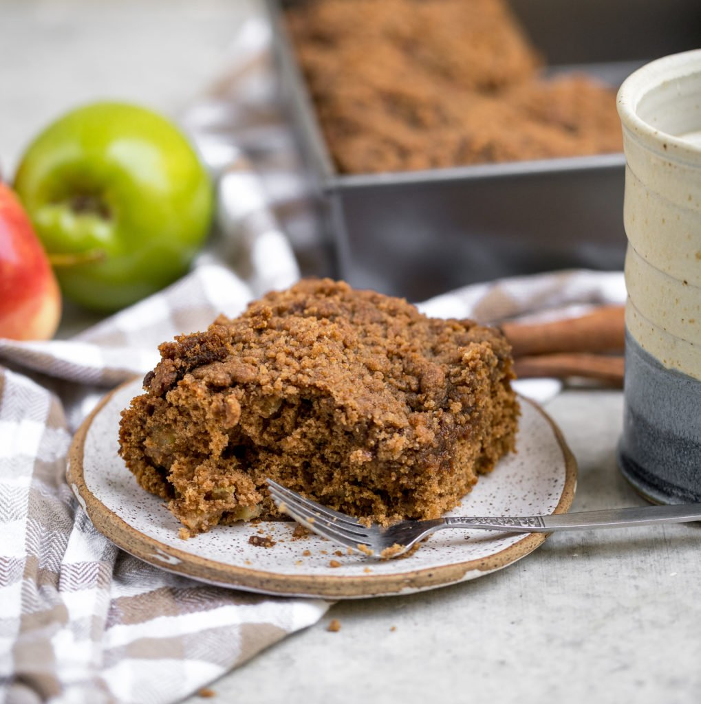 This apple cider coffee cake is a delicious must-have fall dessert you will love.