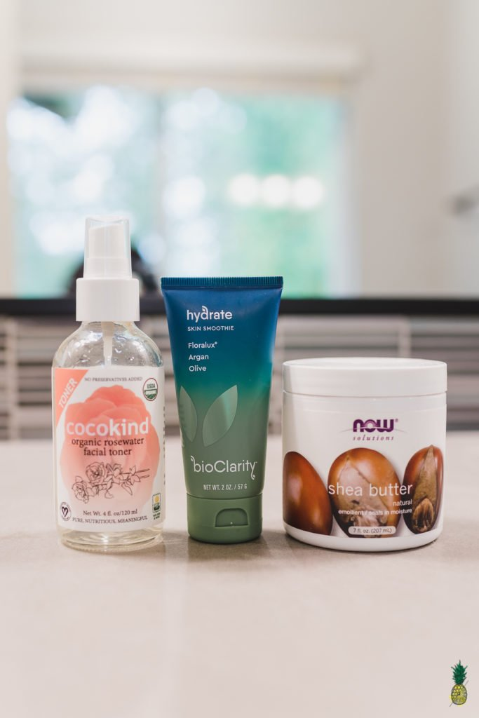 Sweet Simple Vegan Skincare Routine with Cocokind Rosewater, BioClarity Hydrate and Shea Butter