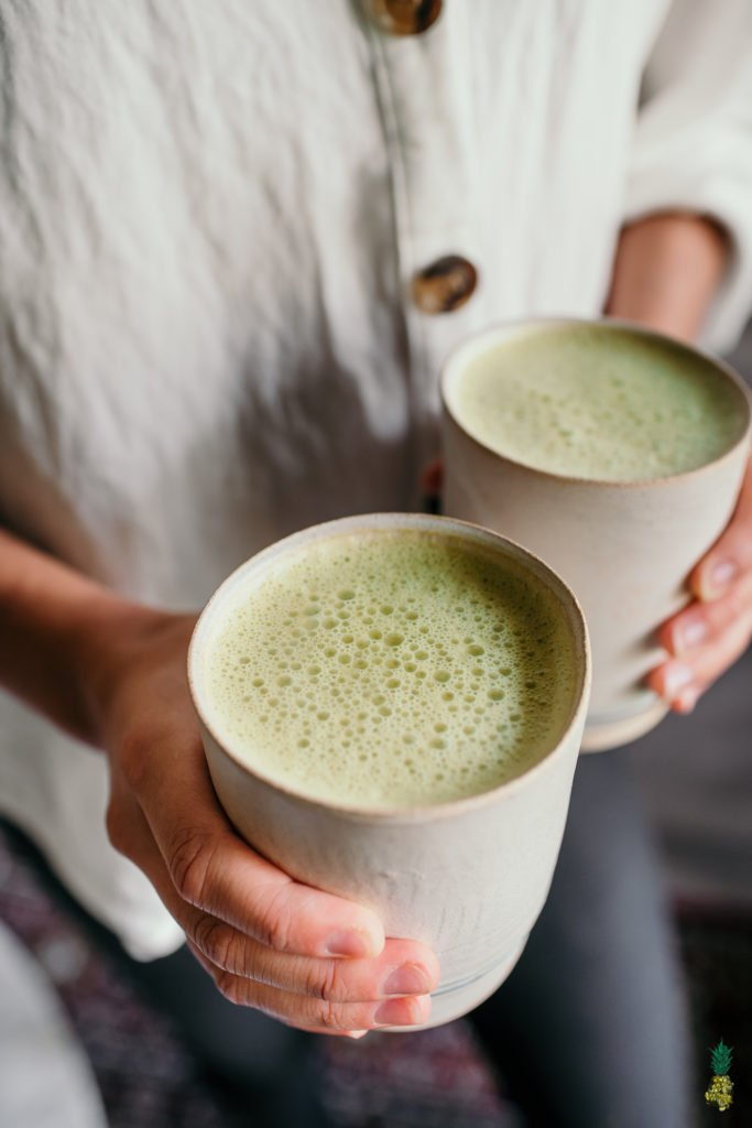 Homemade Vegan Matcha Latte