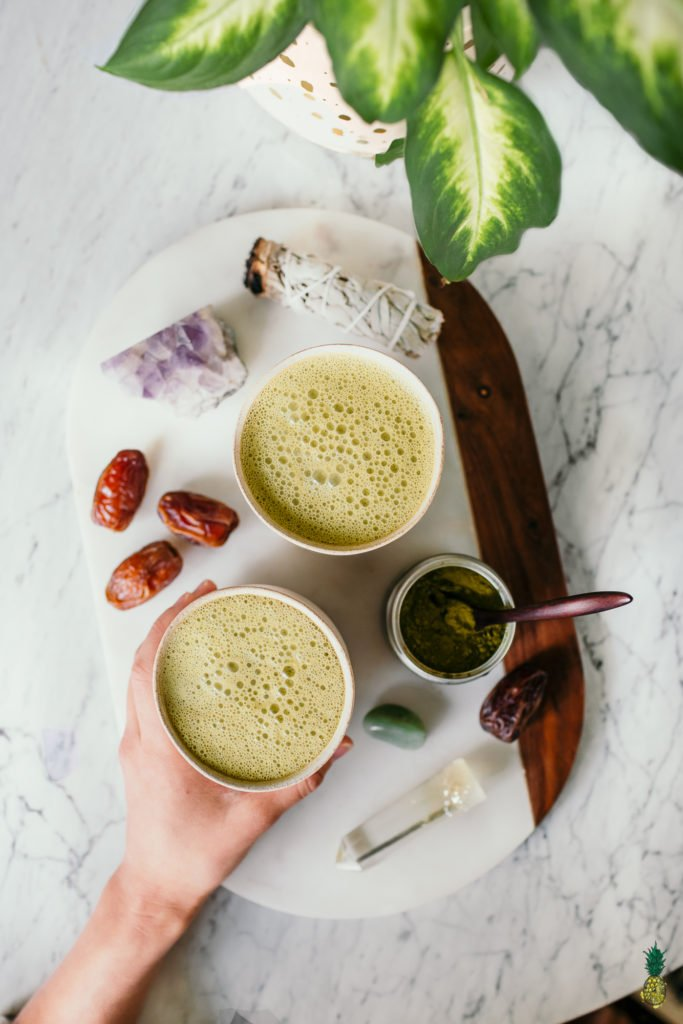 Vegan Matcha Latte Crystals