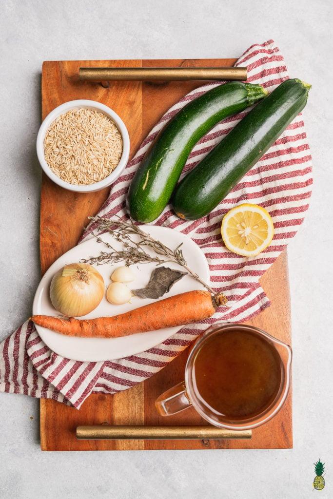 Fall Vegetable Pilaf Ingredients