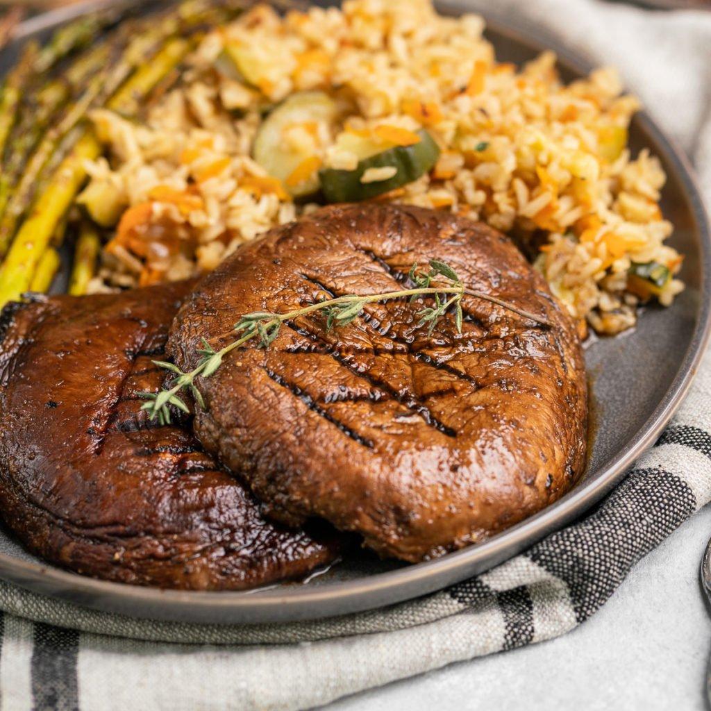 Grilled Portobello Mushroom Steaks Vegan The Best