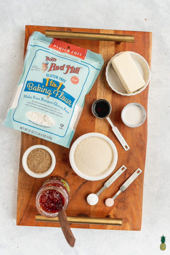 Vegan Gluten-free Thumbprint Cookies Ingredients