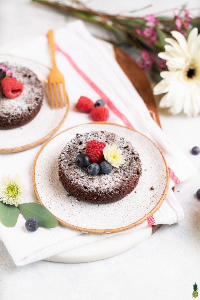 Single Serving Vegan chocolate Cake Sweet Simple Vegan
