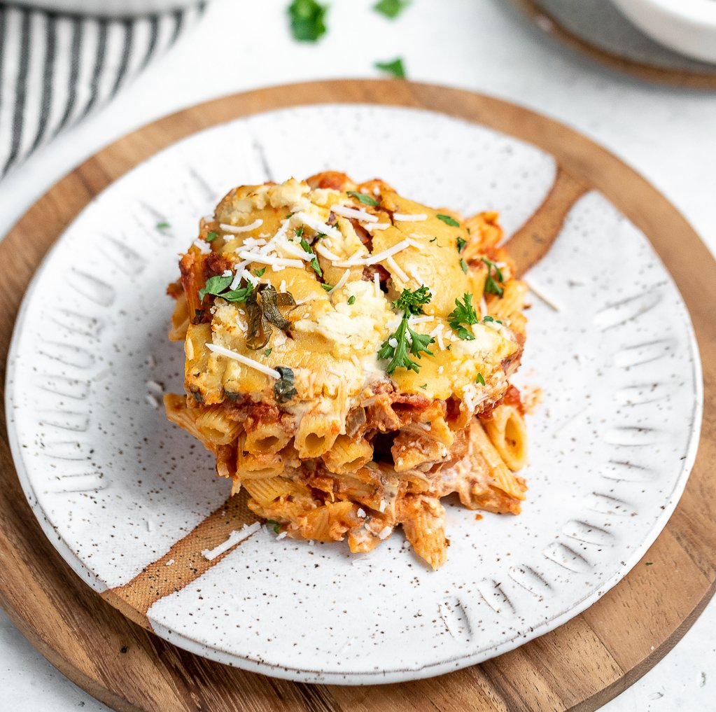 Vegan Baked Ziti with Tofu Ricotta Cheese