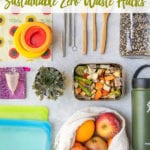 overhead photo of reusable containers and wraps pinterest