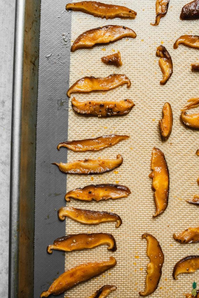 learn how to make homemade vegan shiitake bacon by sweet simple vegan