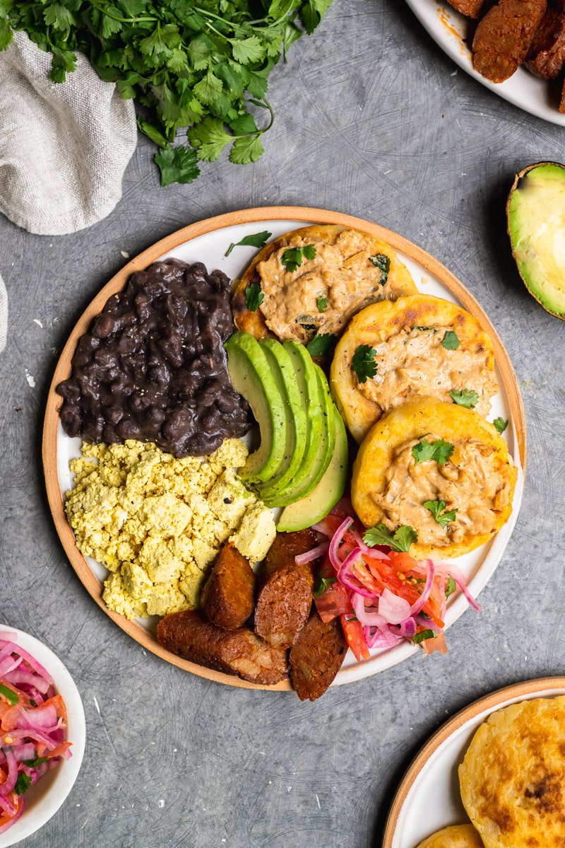 plate of vegan Ecuadorian breakfast