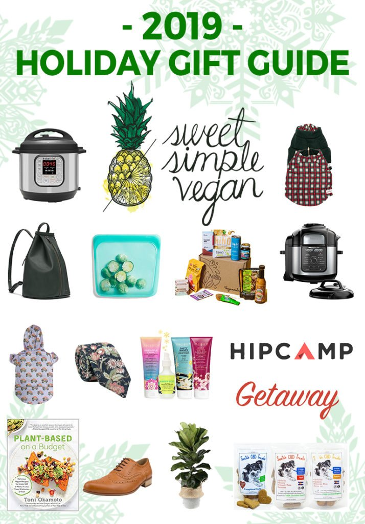 Main image withe products for sweet simple vegan holiday gift guide