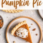 perfect vegan pumpkin pie with coconut whipped cream and crushed pecans by sweet simple vegan for pinterest