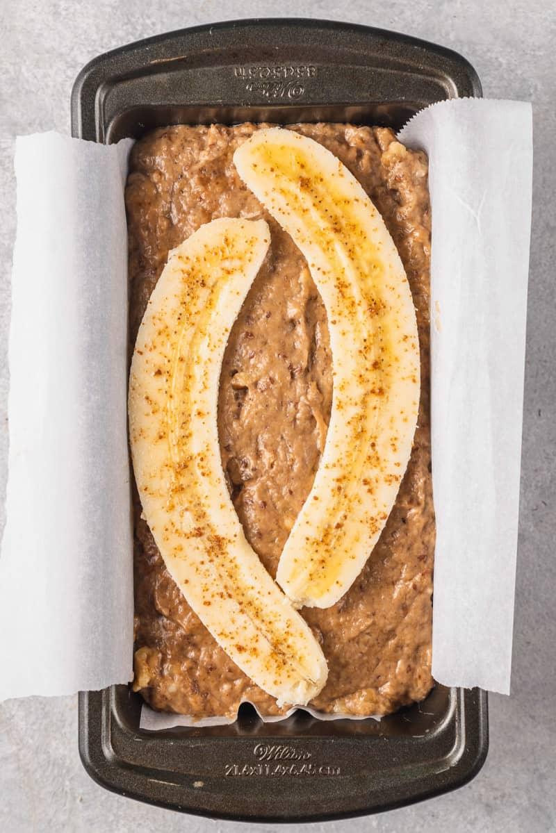 unbaked easy vegan banana bread