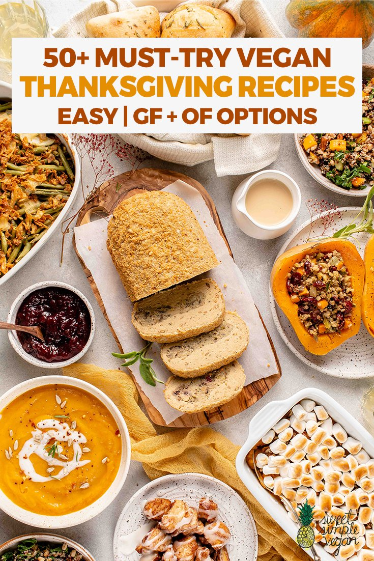 overhead image of thanksgiving spread for Pinterest