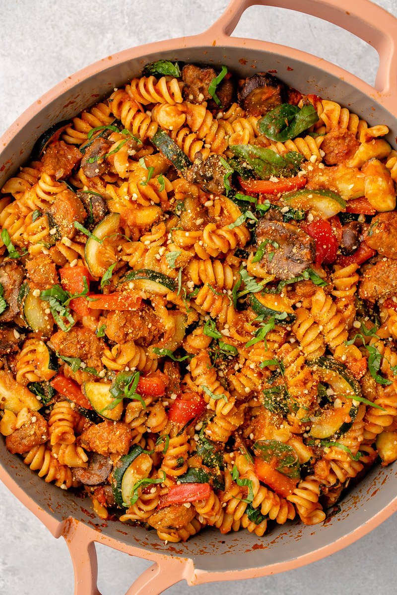 vegetable pasta in our place pan