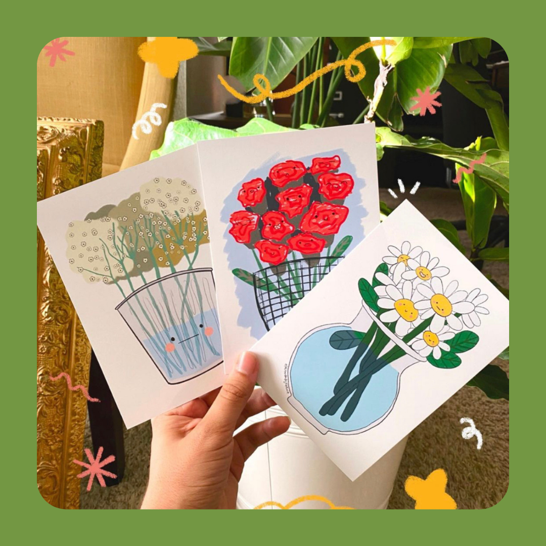 colorful prints of flowers