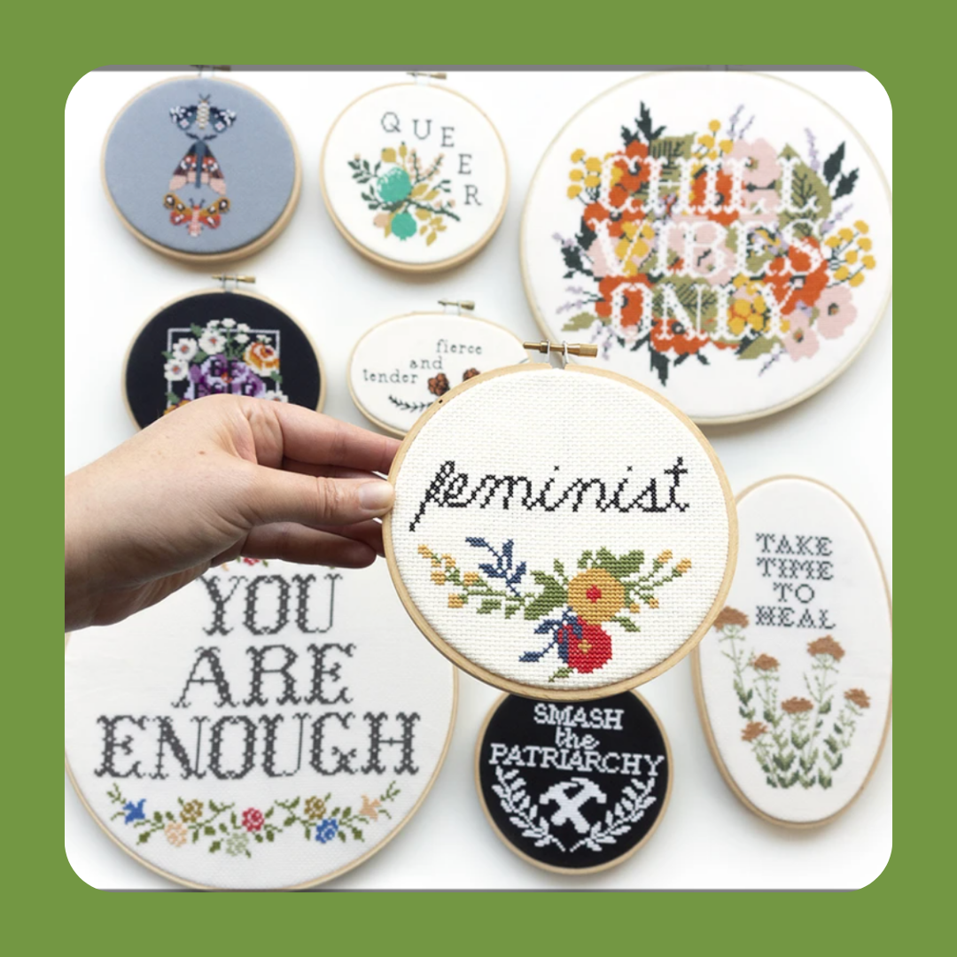 Embroidery Kits with Funky Designs
