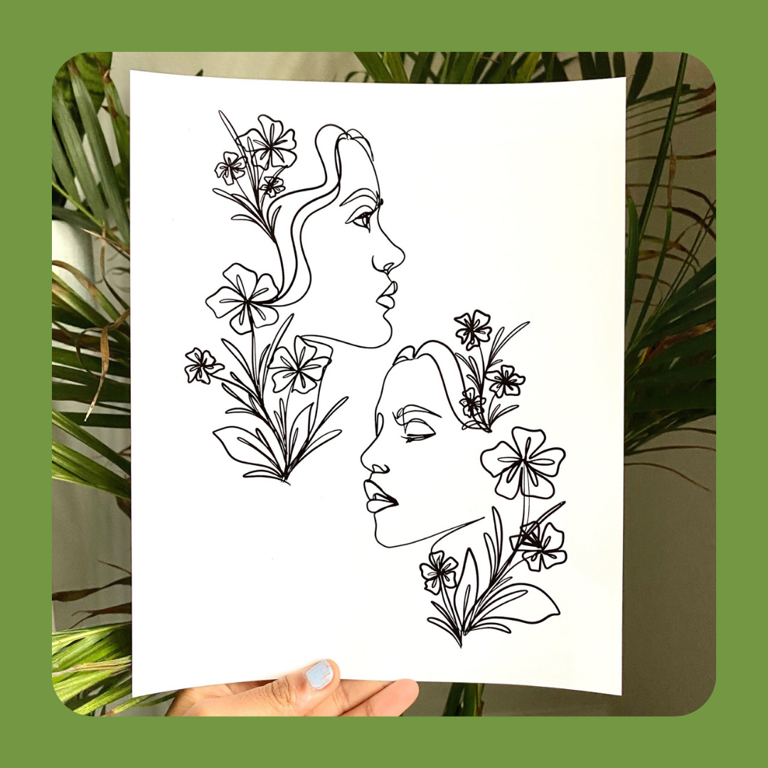 line art drawing by Catie Lewis