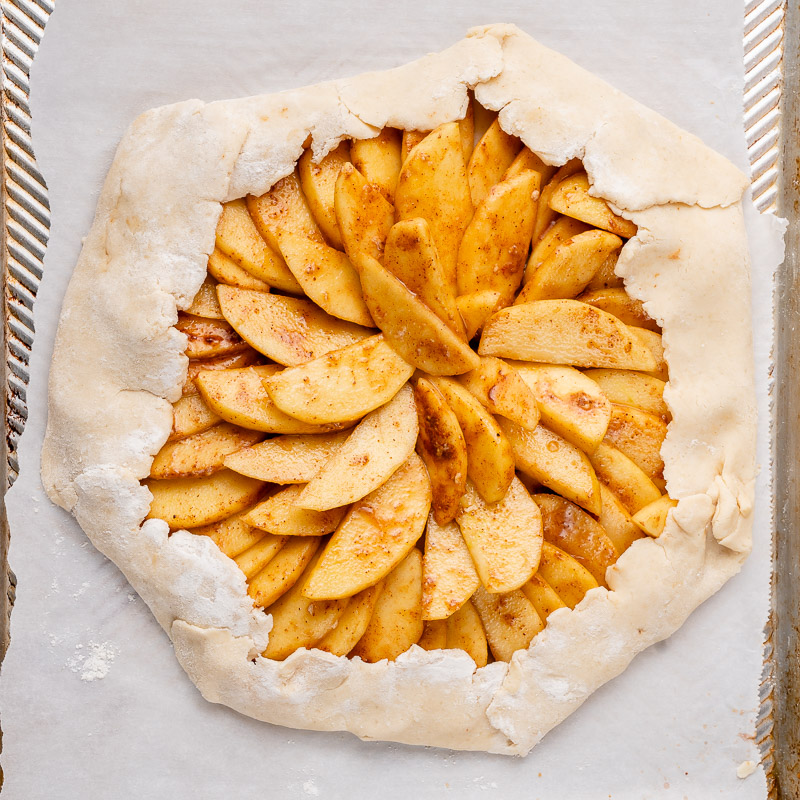 step by step how to make vegan galette crust