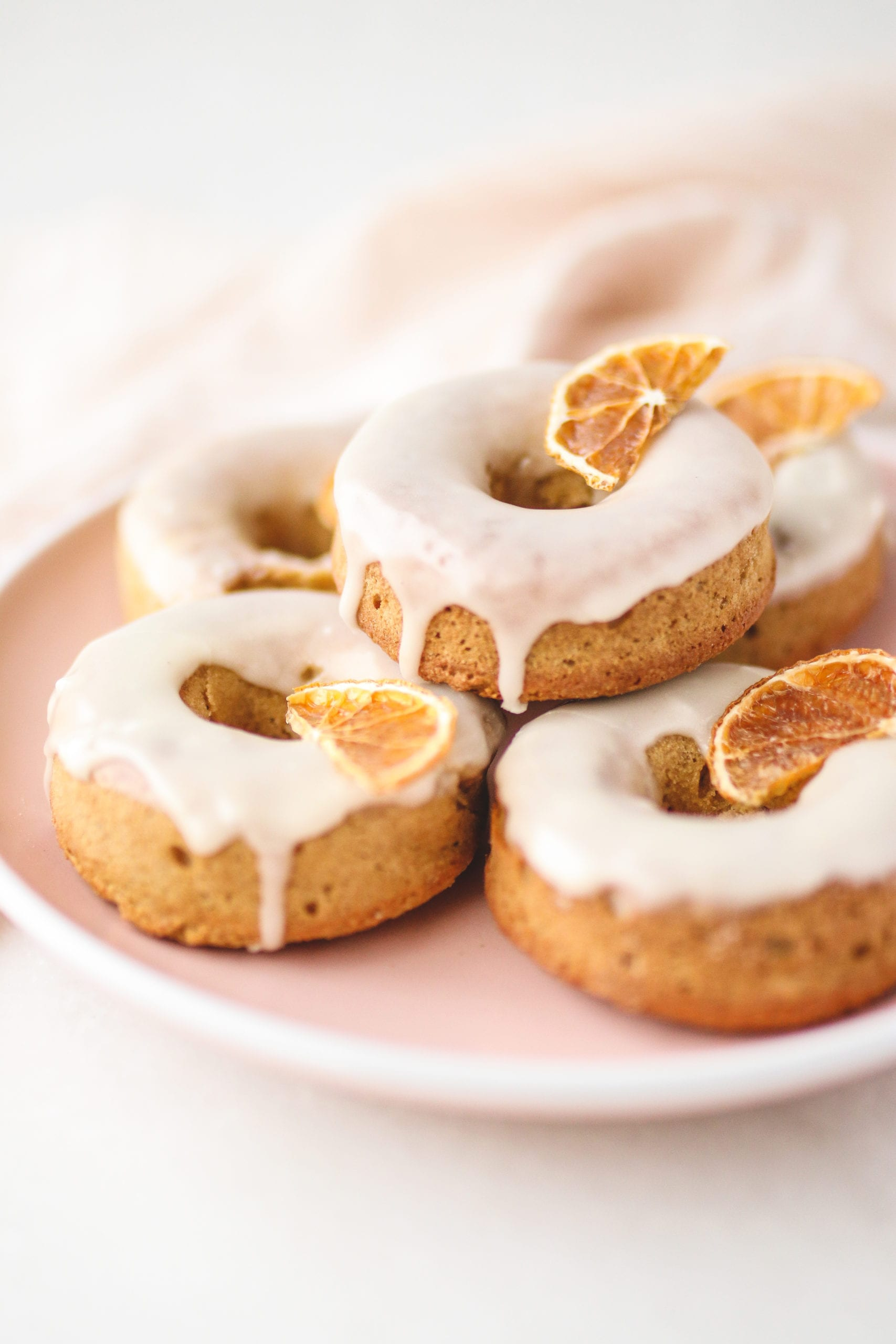 straight forward image of donuts on a tray. Delicious spring desserts.