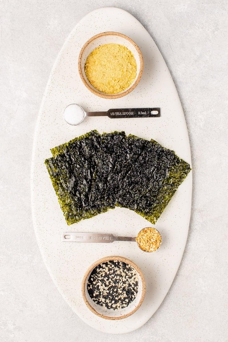 overhead image of ingredients for tokyo street fries seasoning