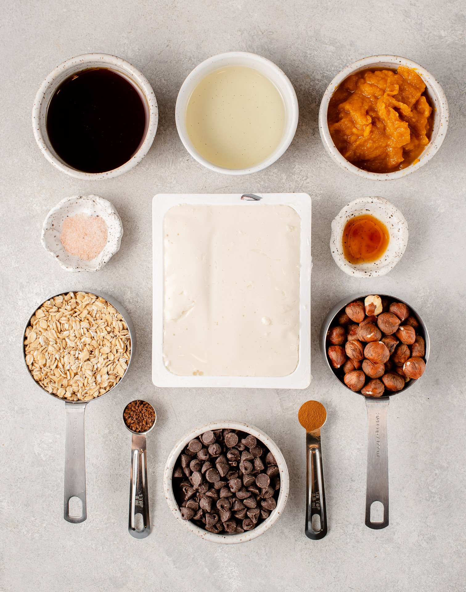 overhead image of ingredients for mousse tart