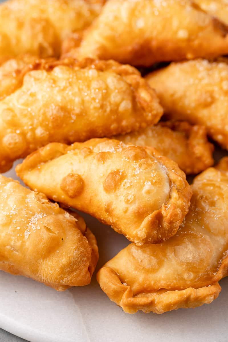 close up Ecuadorian Fried Cheese Empanadas