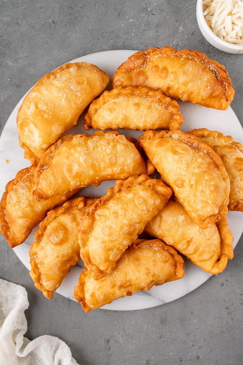 Ecuadorian Fried Cheese Empanadas white plate