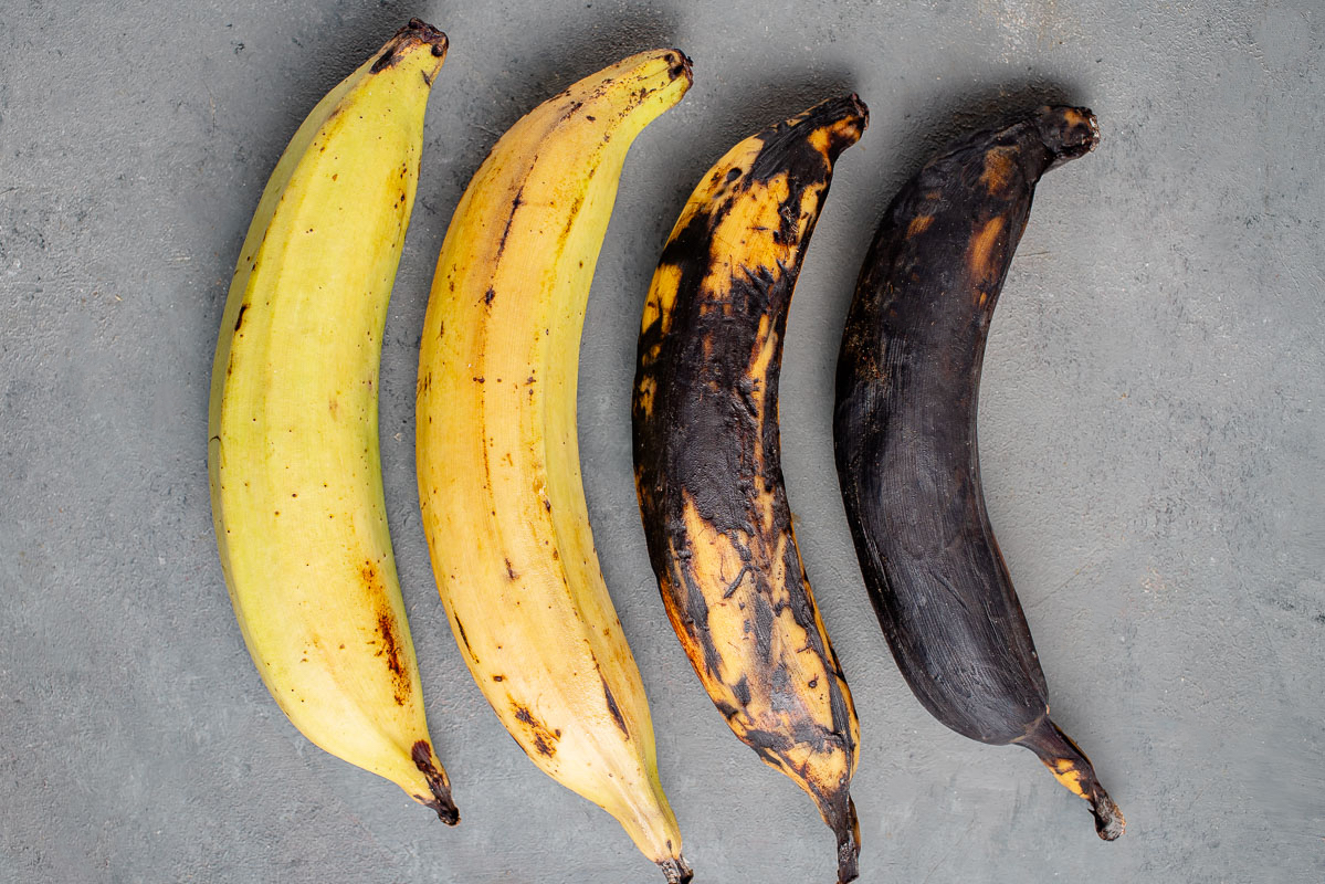 unripe vs ripe plantains